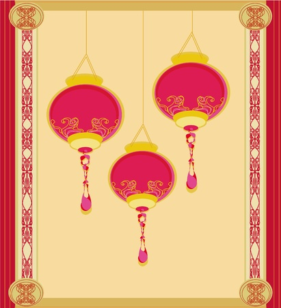 Chinese New Year card Stock Vector - 13147541