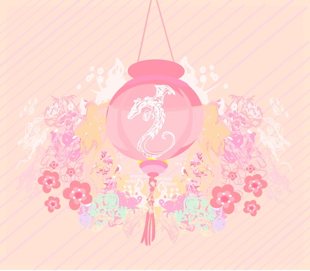 chinese new year decoration: Chinese New Year card, vector