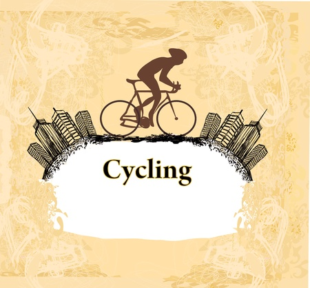 stunts: Ciclismo Grunge Poster vettore Template