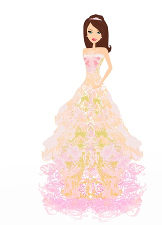 Beautiful bride Stock Vector - 13221767