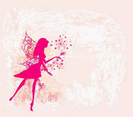 floral background with a beautiful fairy Stock Vector - 13243458