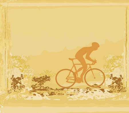 Cycling Grunge Poster Template vector Stock Vector - 13280788