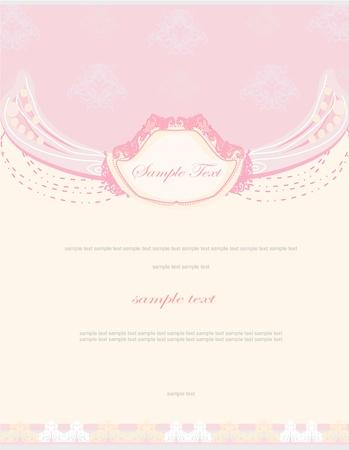 Flor romántica tarjeta de invitación Foto de archivo - 13280785