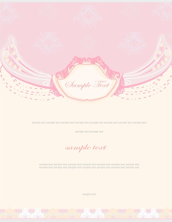romantic flower invitation card  Stock Vector - 13280785