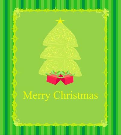Abstract christmas tree card  Illustration