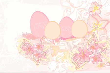 Easter Egg On Grunge Background  Stock Vector - 13343069