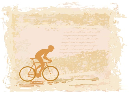 Cycling Grunge Poster Template vector  Vector