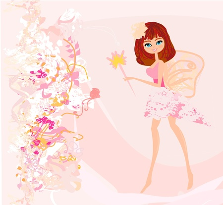 young leaf: beautiful fairy vector graphic  Illustration