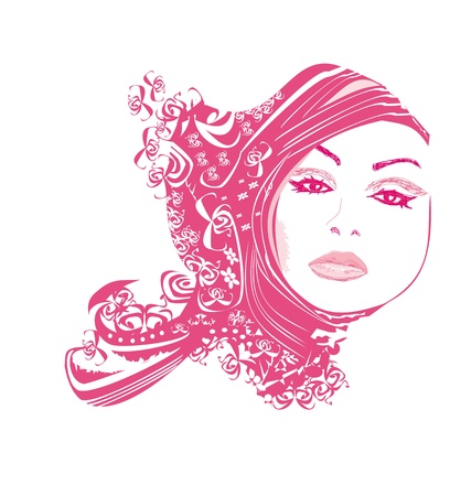 hair cover: Abstract Beautiful Woman poster