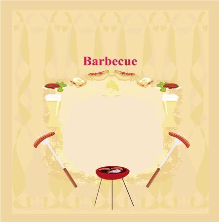 Barbecue Party Invitation  Vector