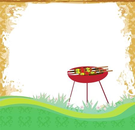 grunge Barbecue Uitnodiging van de Partij