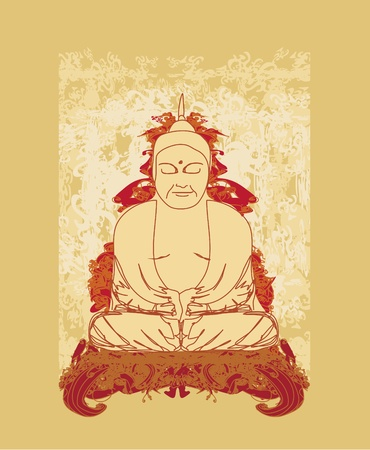 buddist: Chinese Traditional Artistic Buddhism Pattern  Illustration