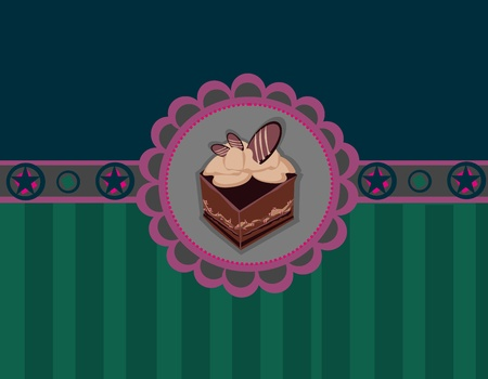 Charming Pattern With cake  Vector