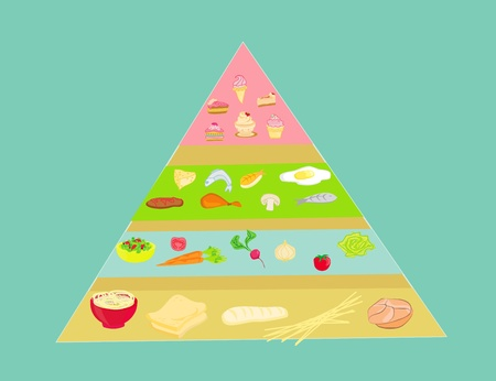 Food pyramid in vector  Stock Vector - 13492515