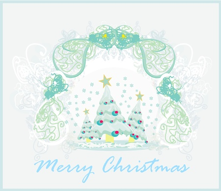Abstract christmas tree card  Stock Vector - 13492765