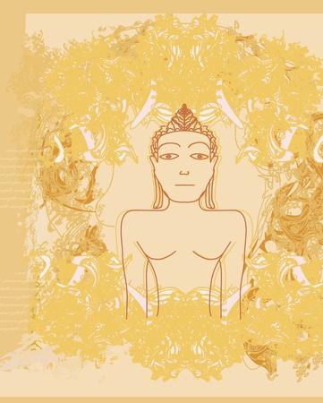 buddist: Chinese Traditional Artistic Buddhism Pattern  Illustration