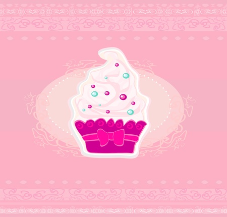 Lovely Cupcake Design  Vector