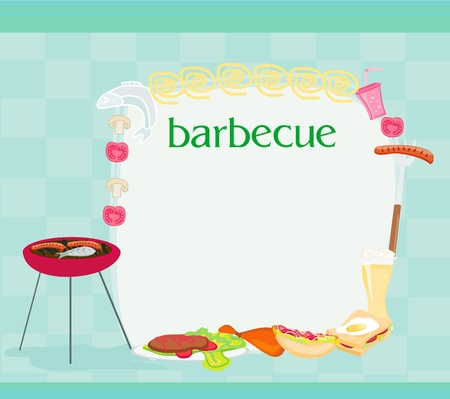 chicken dish: Barbecue Party Invitation