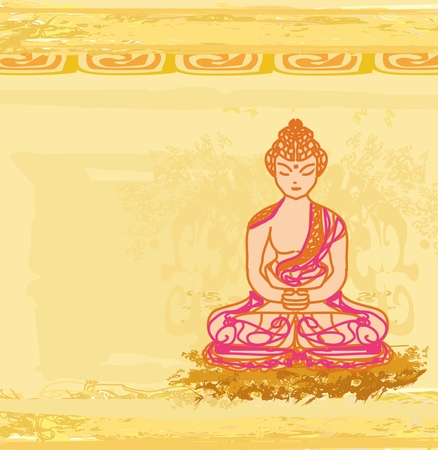 buddism: Chinese Traditional Artistic Buddhism Pattern  Illustration