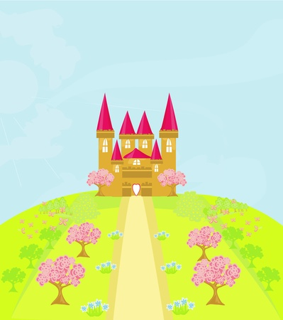 Magic Fairy Tale Princess Castle Stock Vector - 13578767