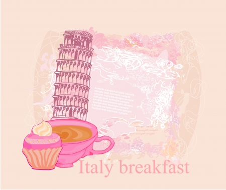 italy breakfast poster  Vector
