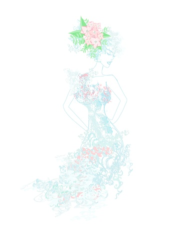 Beautiful bride  Stock Vector - 13625577