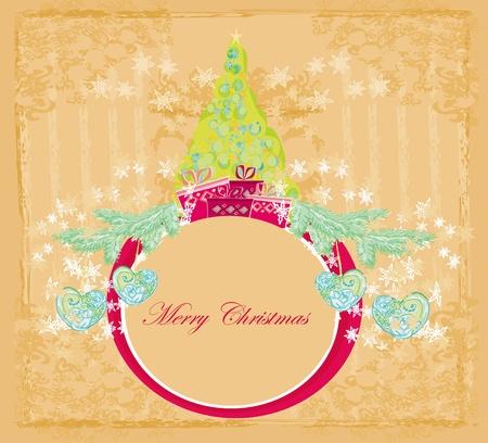 Abstract christmas tree card Stock Vector - 13642003