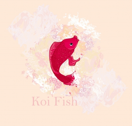 coi carp: japanese koi vector background