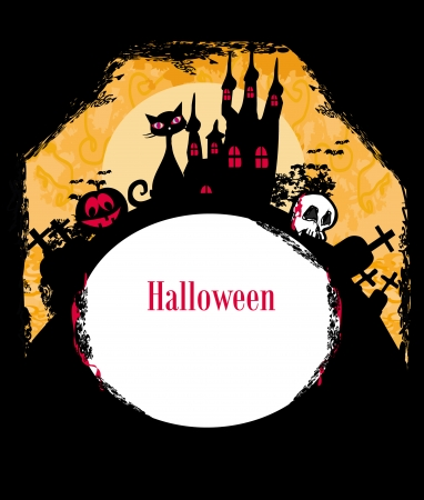 Halloween Themed Frame - Silhouettes Stock Vector - 13658168