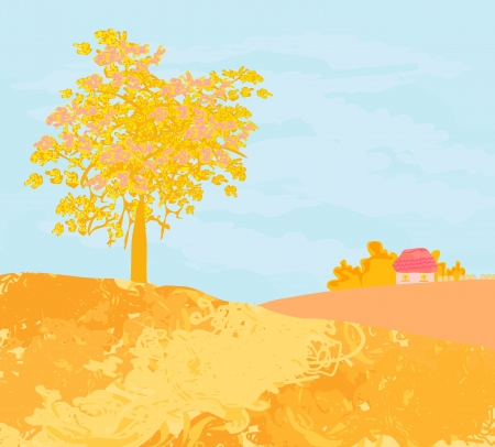Beautiful vector autumn landscape  Stock Vector - 13662460