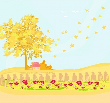 Beautiful vector autumn landscape  Stock Vector - 13662458