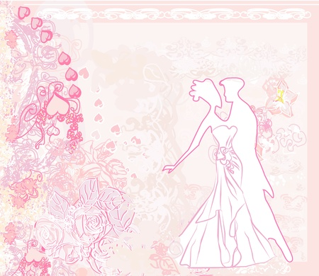 wedding dancing couple background  Vector