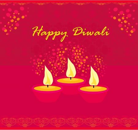 divinit�: abstrait c�l�bration de Diwali, illustration vectorielle