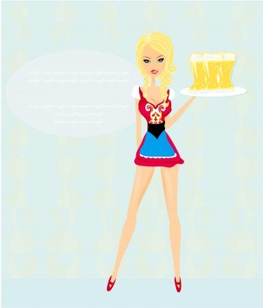 bartender: Oktoberfest serveuse