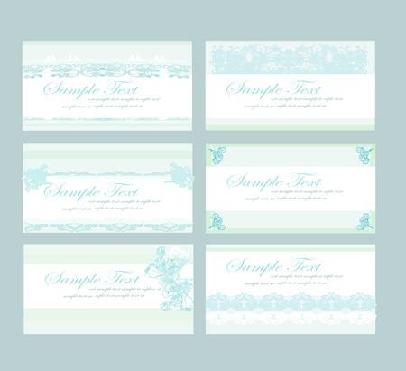Collection from blue business cards  Vector
