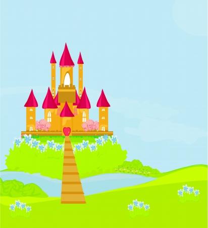 Magic Fairy Tale Princess Castle Vecteurs