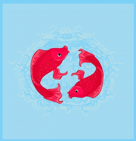 japanese koi vector background Stock Vector - 13753729