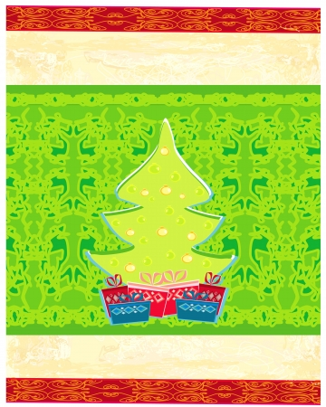 Abstract christmas tree card Stock Vector - 13760085