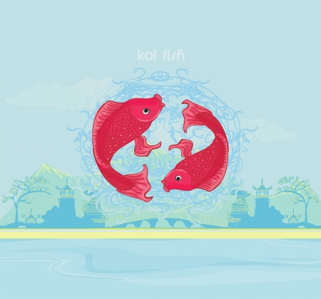 japanese koi background  Vector