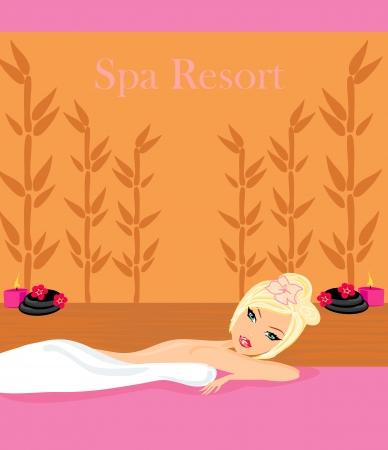 pretty girl enjoying elegant spa  Stock Vector - 13774722