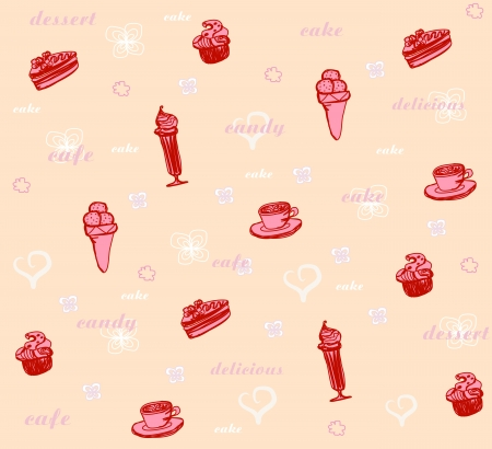 sweet dessert background  Stock Vector - 13815710