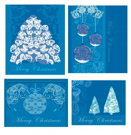 set of christmas cards Stock Vector - 13872086
