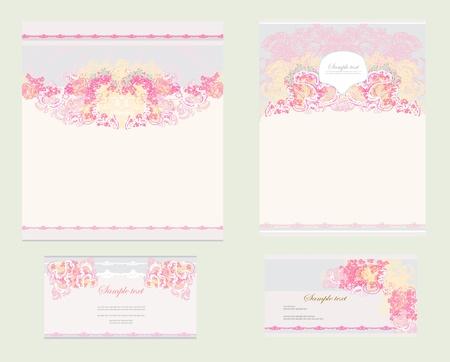 Stylish Wedding templates set  Vector
