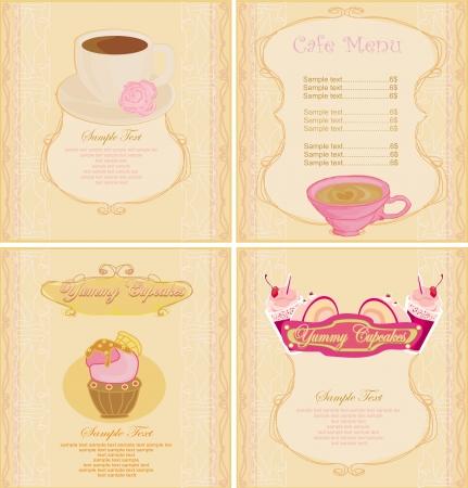 menu coffee shop set  Vector