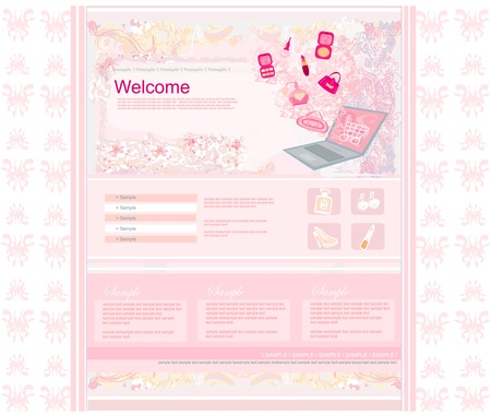 Fashion shopping Website template  Stock Vector - 13855642