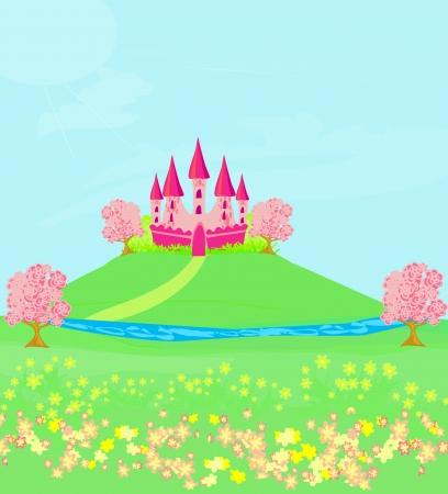 Magic Fairy Tale Princess Castle Stock Vector - 13882104