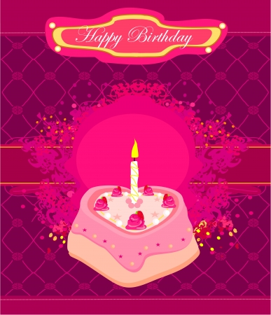 Happy Birthday Card  Stock Vector - 13909917