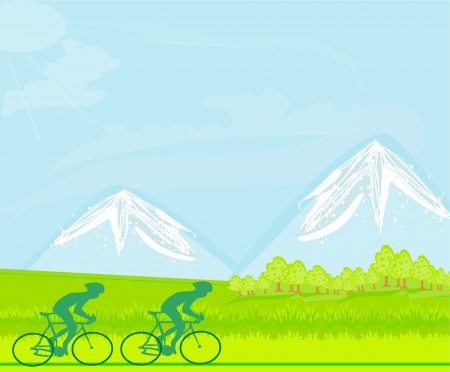 cyclist silhouette: Cycling Poster