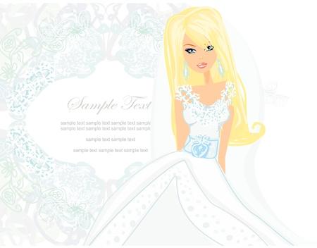Beautiful bride Stock Vector - 13933470