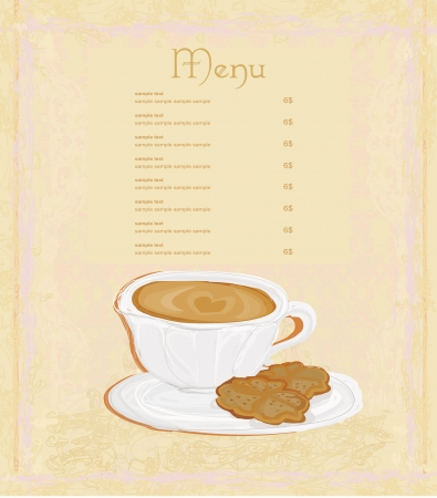 menu coffee shop  Vector